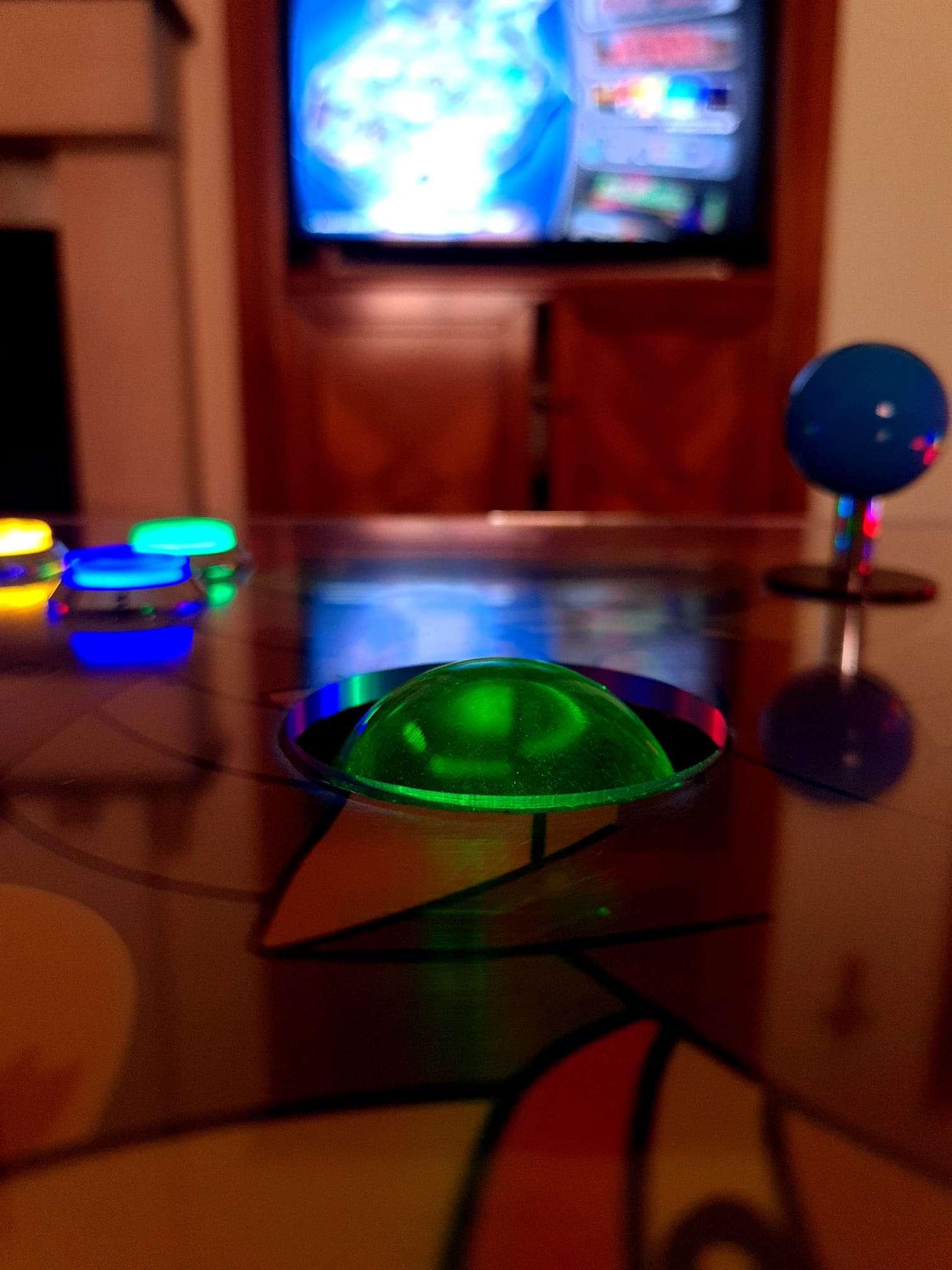 Plancia Arcade con trackball led